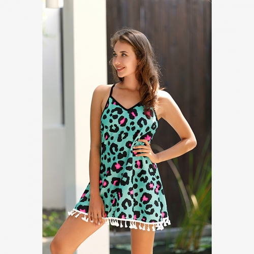 Camisole turqoise panther