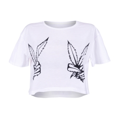 Crop T-shirt WEED PEACE