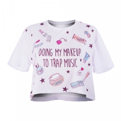 Crop T-shirt MY MAKE UP TO TRAP MUSIC