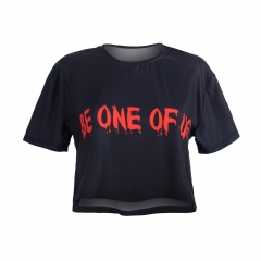Crop T-shirt BE ONE OF US FRONT