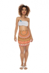 Short skirt   mandala brown