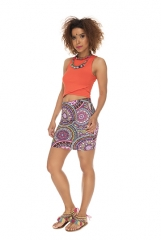 Short skirt   mandala fullcolors purple