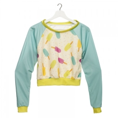 Short hoodie GREEN ICE CREAM