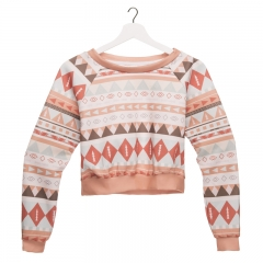 crop sweatshirt AZTEC PEACH