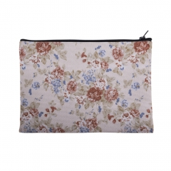 makeup bag vintage flowers