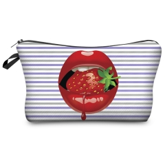 Cosmetic case  strawberry lips wiz