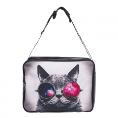 bag galaxy sunglasses cat