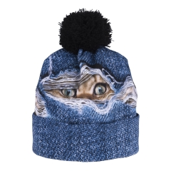Beanie cat hole jeans