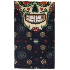 scarf  mexican skull face