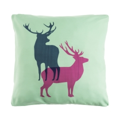 Pillow green deers