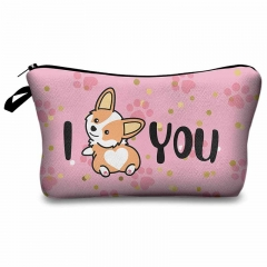Cosmetic case corgi love