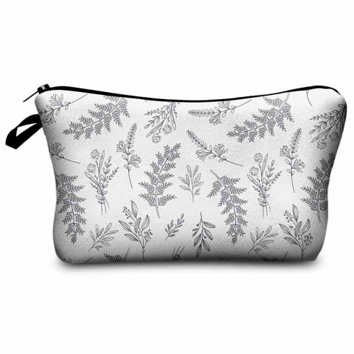Makeup bag plain leaves