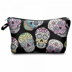 Makeup bag mexican skull black