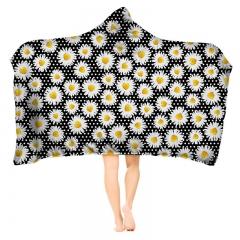 Hoodie blanket  daisy dots