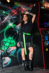 Riding shorts neon stitches