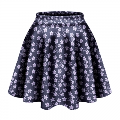 Short skirt white flowers