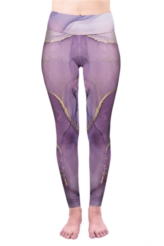 High waist regular dark purple