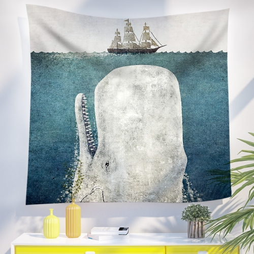 Tapestry Sailboats and Whales