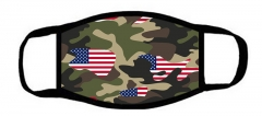 One layer mask  with edge Camouflage flag